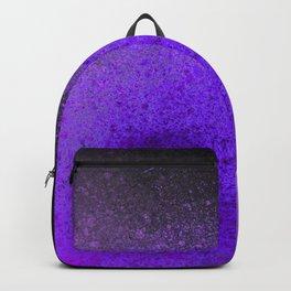 Black and Violet Purple Paint Splatter Backpack