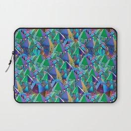 Crystal Shards in Oil Slick Rainbow Aura Laptop Sleeve