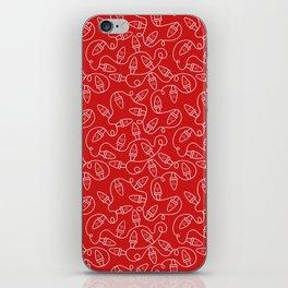 Seamless Christmas Lights (Red) iPhone Skin