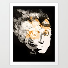 Face of Time Art Print