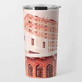 Red City Buildings Travel Mug