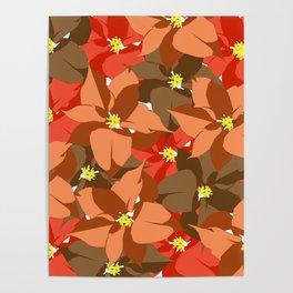 Poinsettia Love Poster