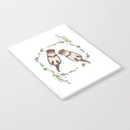 Otter Flower Leaf Notebook