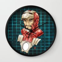 ironman Wall Clocks featuring Ironman by Fernando Cano Zapata