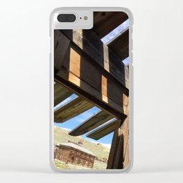 Ghost town barn Clear iPhone Case