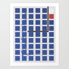 blue as in Sad state of democracy [vt] Art Print
