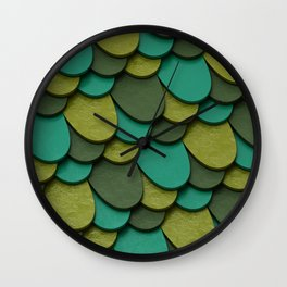 Green Scales Wall Clock