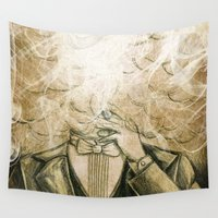 che Wall Tapestries featuring L'uomo che fumava V... by Francesca Cosanti
