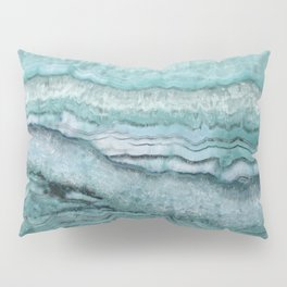 Mystic Stone Aqua Teal Pillow Sham