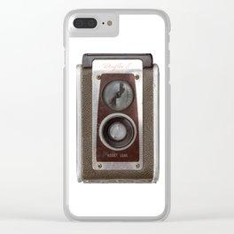 Vintage Duaflex Camera Clear iPhone Case