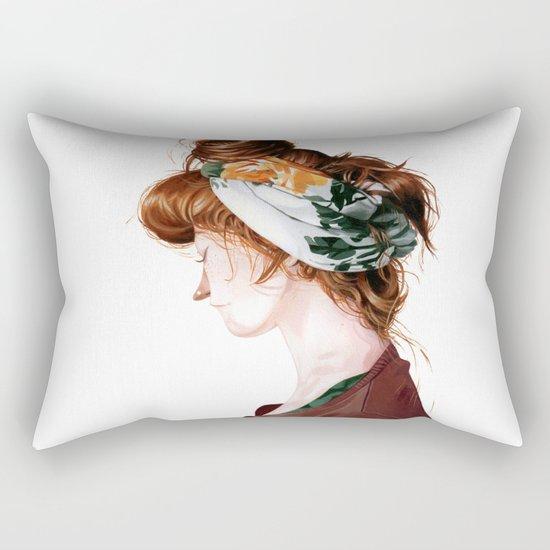 Red Head Rectangular Pillow