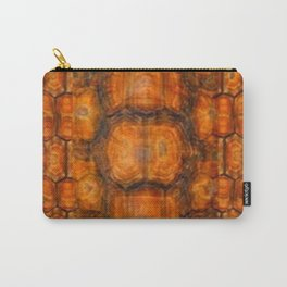 TEXTURED NATURAL ORGANIC TURTLE SHELL PATTERN Carry-All Pouch