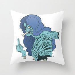 Ebeni zombi Throw Pillow