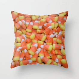 Candy corn | Candy | Halloween Decor | Happy Halloween Throw Pillow