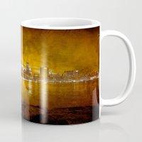 brooklyn bridge Mugs featuring Brooklyn Bridge by Svetlana Sewell