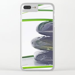 Waterdrops on Hot Stones Clear iPhone Case