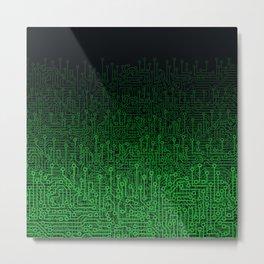 Reboot II GREEN Metal Print
