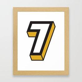 Big 7 Framed Art Print