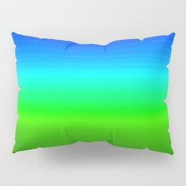 Blue Sky Green Grass Deconstructed (blue to green ombre gradient) Pillow Sham