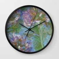 monet Wall Clocks featuring After Monet by Suellen Tomkins