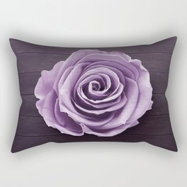 PURPLE - ROSE - ON - WOODEN - SURFACE Rectangular Pillow