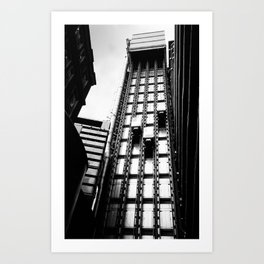 London Lift Art Print