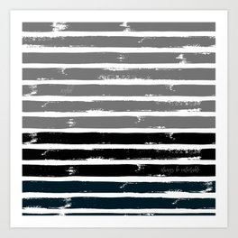 The Glory Stripes Art Print