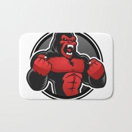 Angry big gorilla Bath Mat