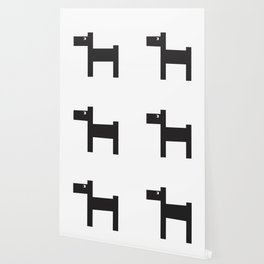 Graphic dog b&w Wallpaper