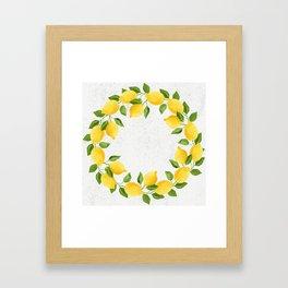 Watercolor Lemons Framed Art Print