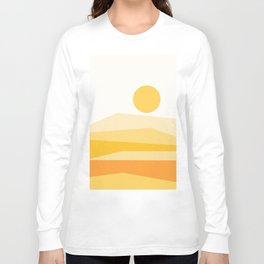 Abstract Landscape 09 Yellow Long Sleeve T-shirt