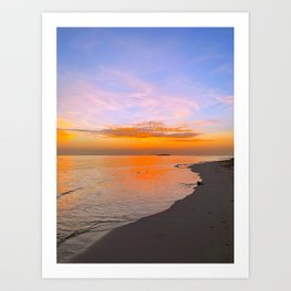Tropical Maldives Sandy Beach Evening  Art Print