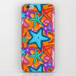 Starfish Pattern Design 2 iPhone Skin