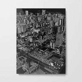 Asakusa, Japan in BW Metal Print