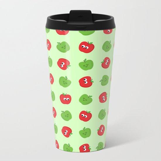 Happy Apples Metal Travel Mug