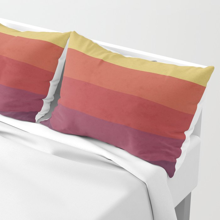 Retro Video Cassette Color Palette Pillow Sham