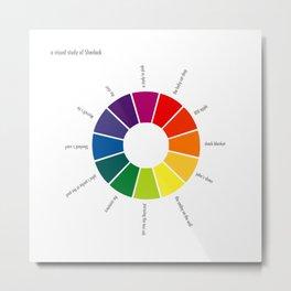 A Visual Study of Sherlock Metal Print