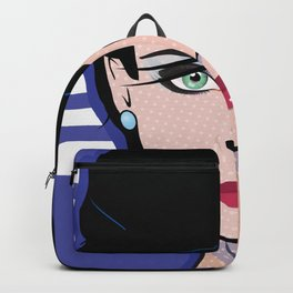 Beautiful Pop Art Woman Bettina Backpack