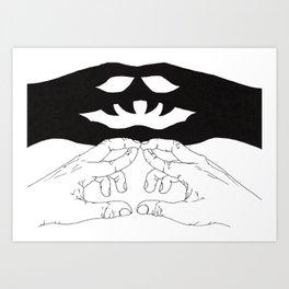 Shadow Hands Art Print