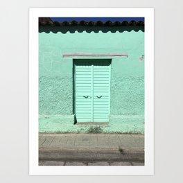 Mint Door (San Cristóbal, Chiapas, Mexico) Art Print