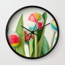 Lollipop Bouquet, Little Girl Room Decor, Wall Art Print Girl, Children Room Print, Lollipop Image Wall Clock