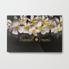 Hawaii Pukaball Plumeria Metal Print