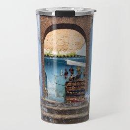 Doors - Chefchaouen II, Morocco Travel Mug
