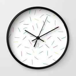 Rain of Colors Wall Clock
