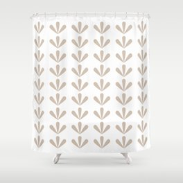 Nefrit (White) Shower Curtain