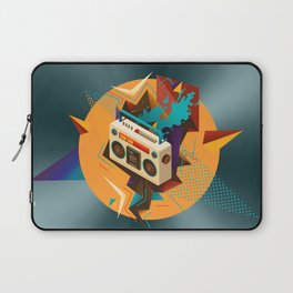 Bust Out The Jams Retro 80s Boombox Splash Laptop Sleeve