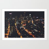 Seattle Lights Art Print