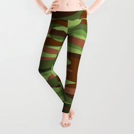 Military Inspired Green and Brown Spheres Leggings