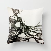 french Throw Pillows featuring French  by OnceUponAWonderland