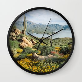 Arizona Blooms Wall Clock